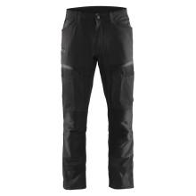 Pantalon services + stretch noir/gris foncé