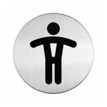 Pictogramme acier brossé inoxydable WC Hommes