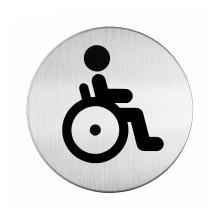 Pictogramme acier brossé inoxydable WC Handicapés