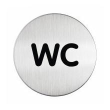 Pictogramme acier brossé inoxydable WC