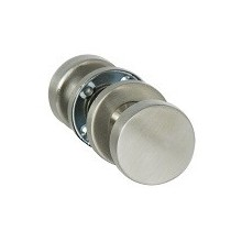 Bouton double plat mobile inox