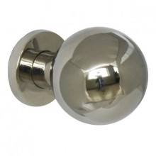 Bouton boule simple fixe inox