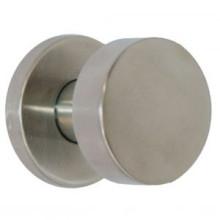 Bouton cylindre plat fixe inox