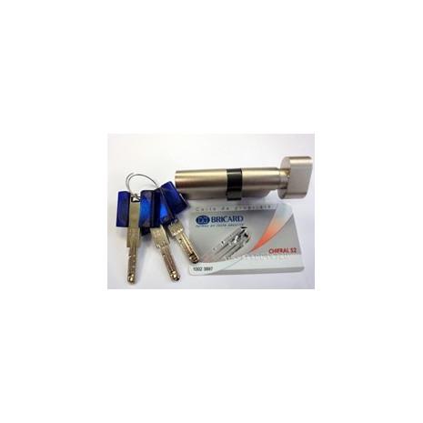 Cylindre de serrure BRICARD CHIFFRAL S2 à Bouton