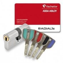 PROMOTION - Cylindre de serrure VACHETTE RADIALIS A2P** Synkro - avec 4 clés