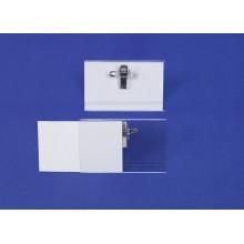Porte-badge rigide clip + épingle