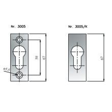 Rosace cylindre européen 3005