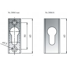 Rosace cylindre européen 3006