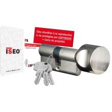 Cylindre de serrure ISEO F9 à bouton