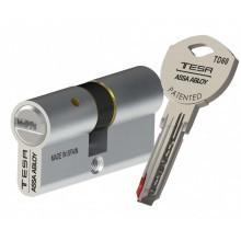 Cylindre de serrure TESA TD60 à 2 entrées de clé avec 3 clés