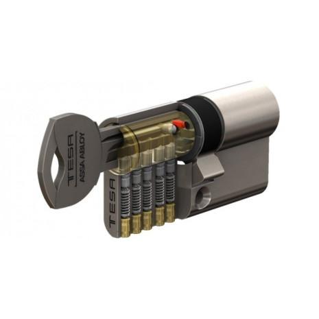 Cylindre de serrure TESA TD5 à 2 entrées de clé