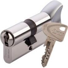 Cylindre VACHETTE VIP+ Nickelé à bouton - avec 4 clés