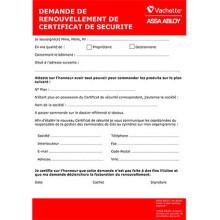 Certificat de sécuritté VACHETTE